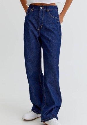 Široké džíny - dark-blue denim