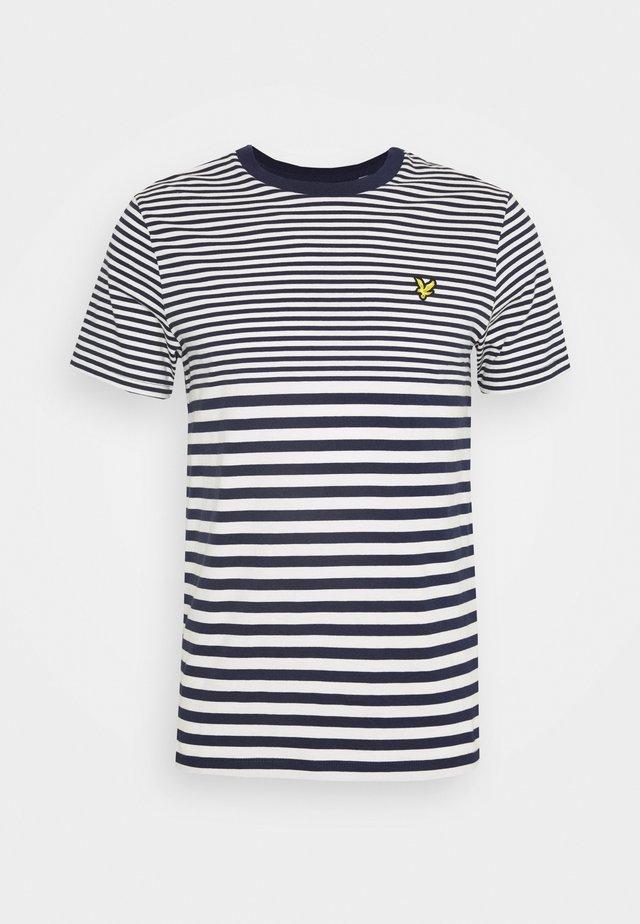 MULTI STRIPE - Print T-shirt - navy/vanilla ice