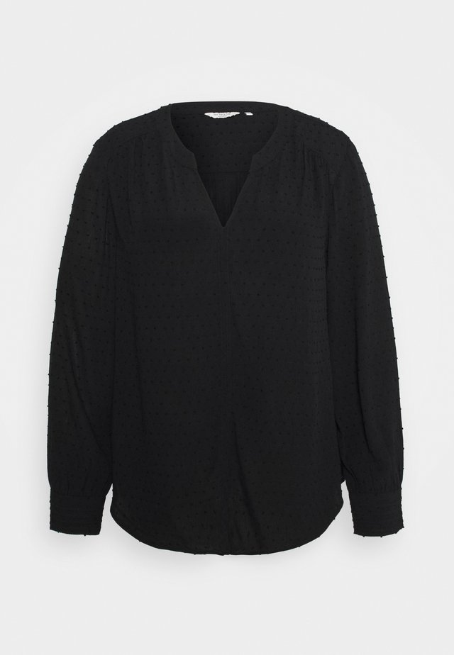 BLOUSE STRUCTURED DOBBY - Blouse - deep black