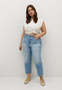 Violeta by Mango - Straight leg jeans - hellblau - 1