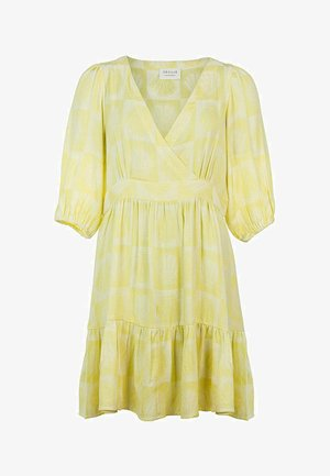 AGNES - Day dress - canary yellow