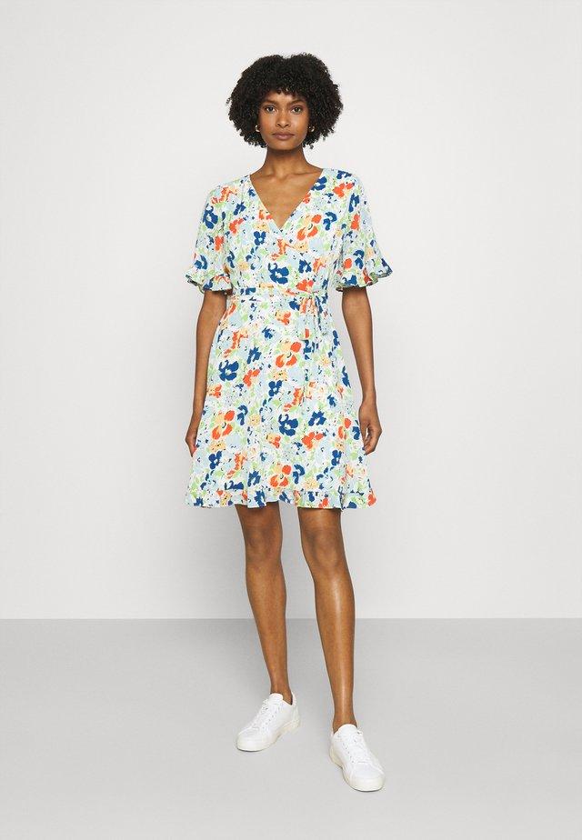 PRINTED DRESS - Korte jurk - colonial cream