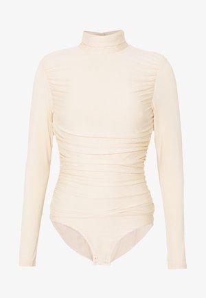 RUCHED DETAIL LONG SLEEVE - T-shirt à manches longues - beige