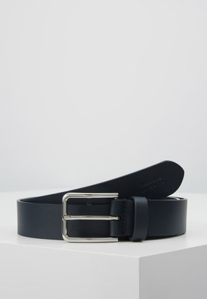 UNISEX LEATHER - Belt - dark blue