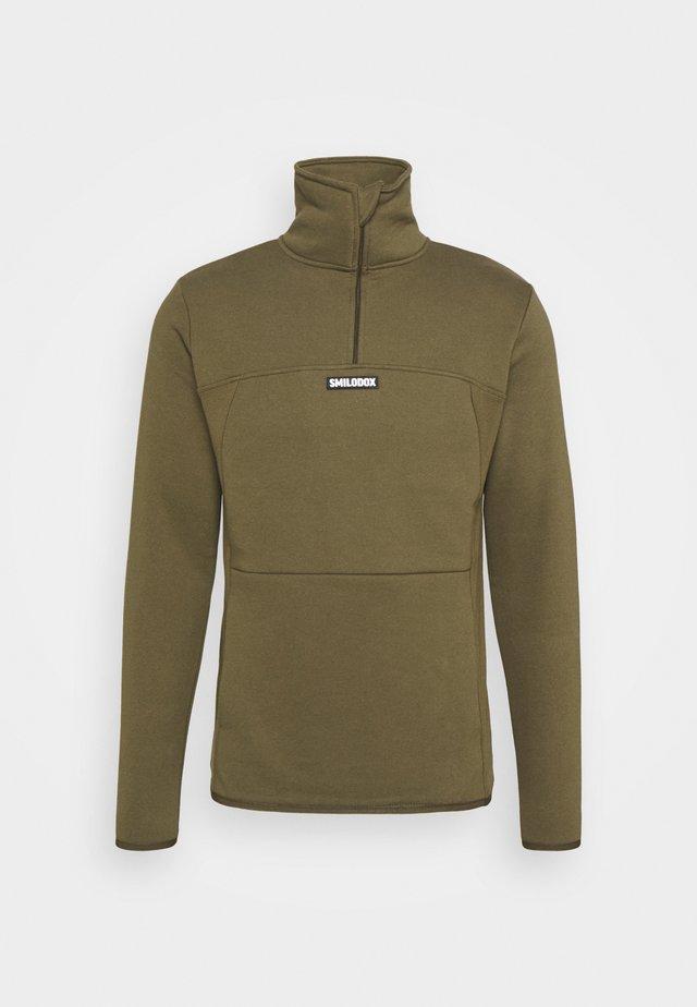 HALF ZIP BLAZE - Sweatshirt - olive