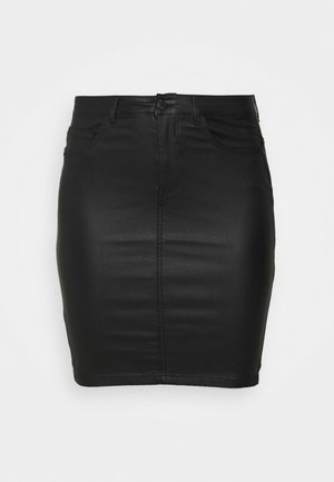 CAREMILIA ROCK COATED SKIRT - Mini skirt - black