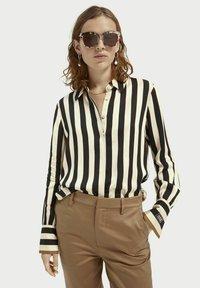 Scotch & Soda - Button-down blouse - black/off-white - 0