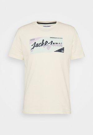JORLOGON TEE CREW NECK  - Print T-shirt - seedpearl