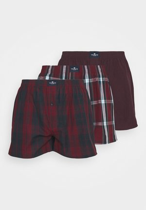 3 PACK - Boxer shorts - red dark