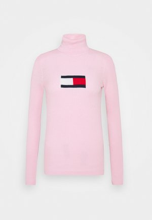 FLAG ROLL NECK - Jumper - romantic pink