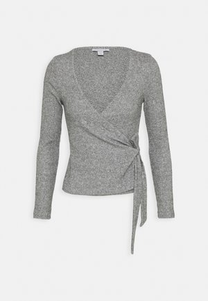 BRUSHED BALLET WRAP - Long sleeved top - grey