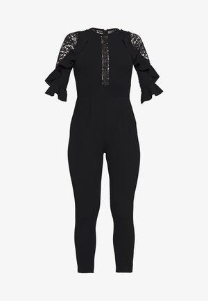 DETAIL FRILL - Jumpsuit - black