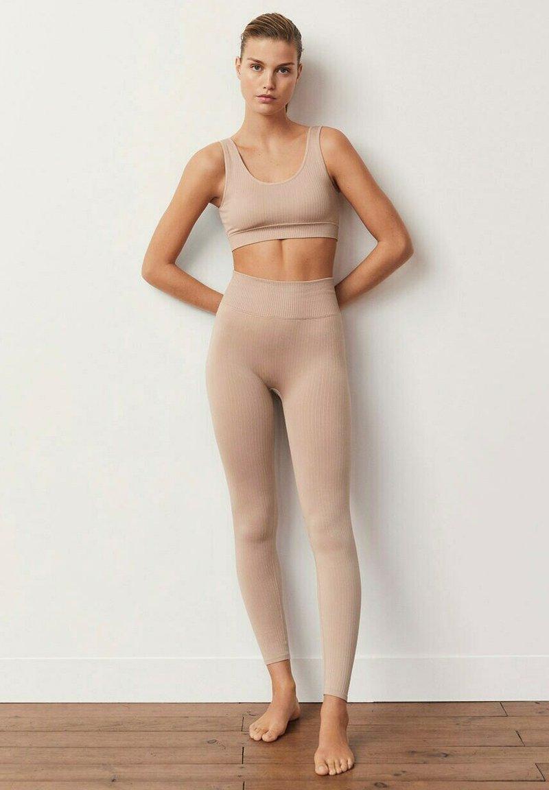 Mango - Leggings - nude
