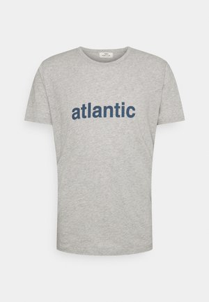 ATLANTIC UNISEX - T-shirt print - heather grey/blue shadow
