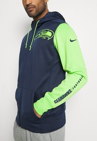 Nike Performance - NFL SEATTLE SEAHAWKS LEFT CHEST MASCOT FULL-ZIP THERMA HOOD - Klubové oblečení - college navy/action green - 5