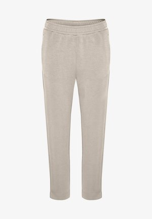 DALTONIW SLIT - Trousers - simply taupe