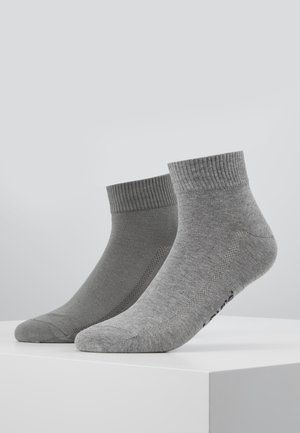 MID CUT 2 PACK - Socks - middle grey melange