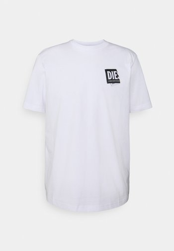 JUST LAB UNISEX - Print T-shirt - white