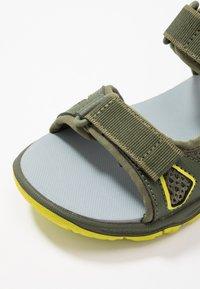 Jack Wolfskin - TARACO BEACH - Chodecké sandály - khaki/lime - 5