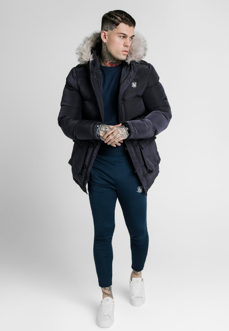 SIKSILK - STOP PUFF - Cappotto invernale - navy