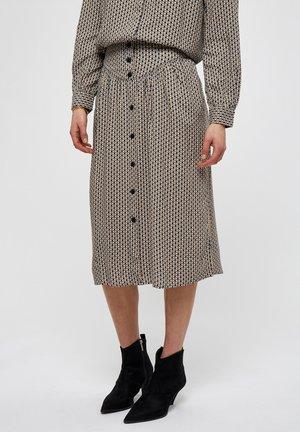 JASMINA  - A-lijn rok - shadow dot steel grey print