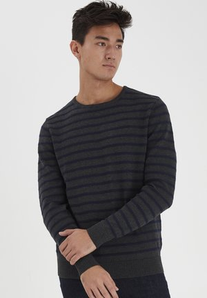 Sweatshirt - dark grey melange
