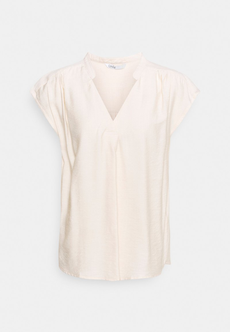ONLY Tall - ONLJOSEY V-NECK  - Top - ecru