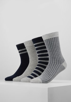 CREW SOCKS ECO DIM STYLE 4 PACK - Strumpor - grey/blue
