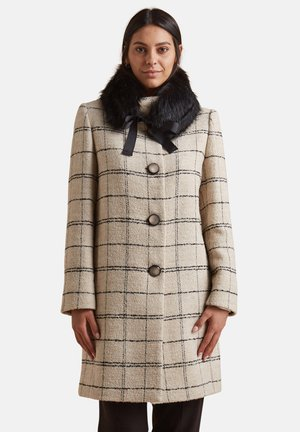 CON COLLETTO STACCABILE - Classic coat - beige