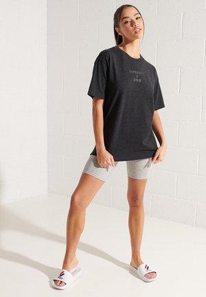 T-shirt print - dark charcoal marl