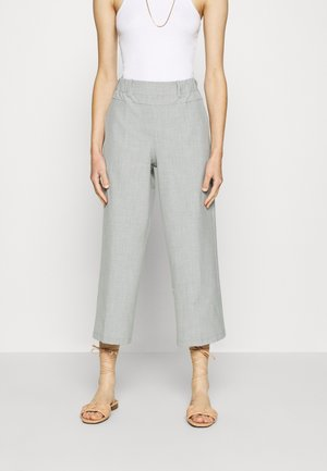 NANCI JILLIAN CULOTTE PANTS - Trousers - light grey melange