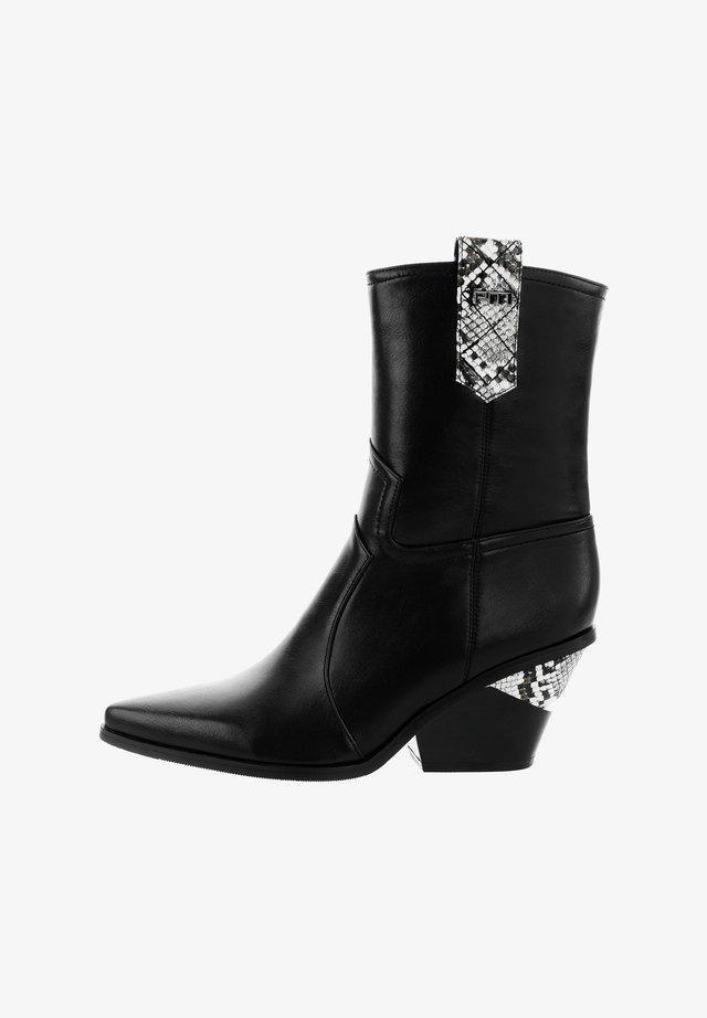 RAFFA - Korte laarzen - black
