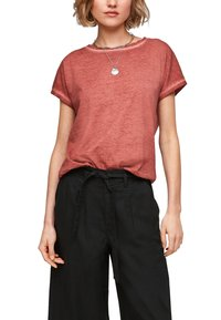 QS by s.Oliver - Basic T-shirt - rust - 4