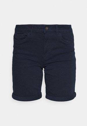 VMHONNISEVEN LONG FOLD - Jeansshorts - navy blazer