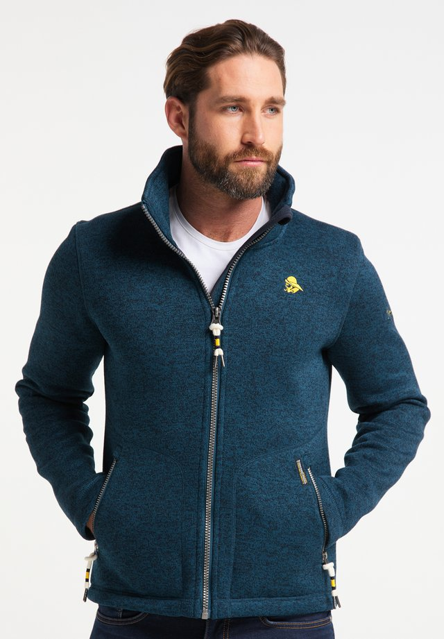 Fleece jacket - petrol melange