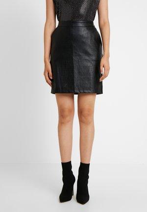NMKELLY  CROCODILE SKIRT - Pouzdrová sukně - black