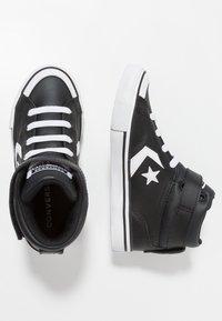 Converse - PRO BLAZE STRAP - High-top trainers - black/white - 0