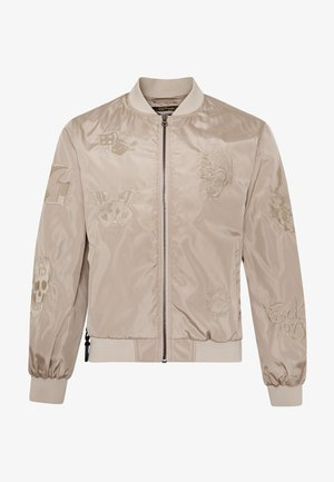 DRAG-CLOUD NYLON BOMBER JACKET - Summer jacket - stone