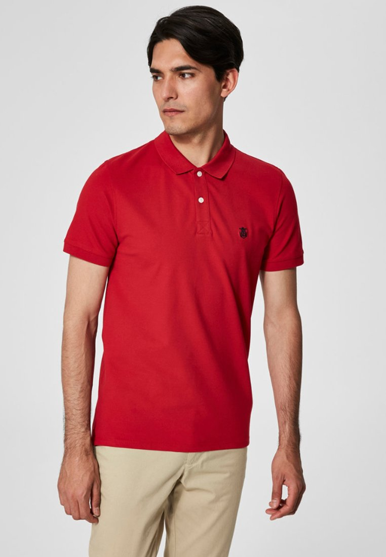 Selected Homme - SLHARO EMBROIDERY - Polo shirt - red