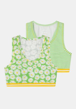 GIRLS HEARTS 2 PACK - Korzet - green