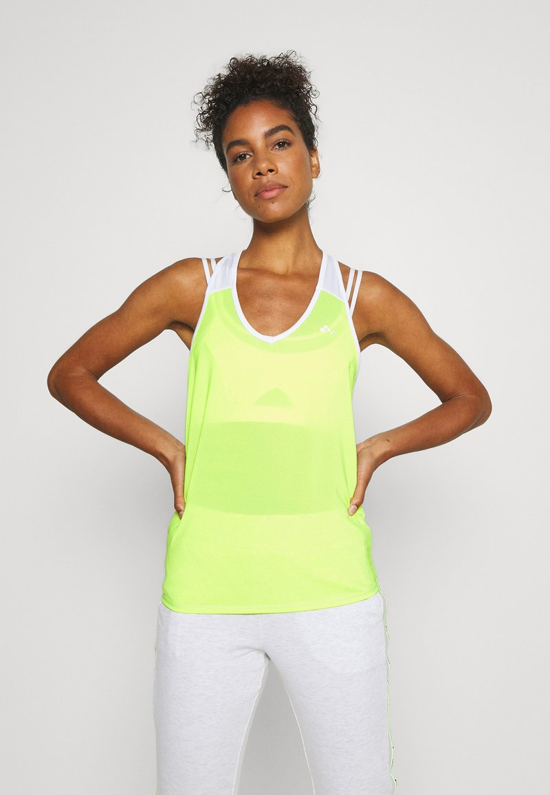 ONLY Play - ONPAMBRE TRAINING - Sports shirt - safety yellow/white/black