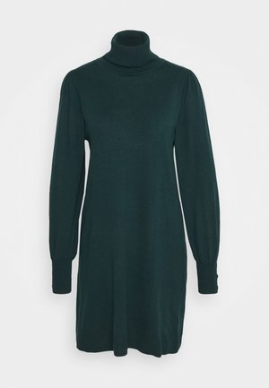 KNITTED Z: ROLL NECK SWING DRESS - Jumper dress - forest