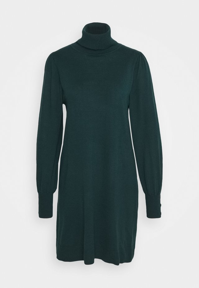 KNITTED Z: ROLL NECK SWING DRESS - Robe pull - forest