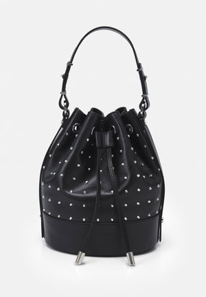 TINA KUNAKEY MEDIUM BUCKET BAG WITH STUDS - Handbag - black