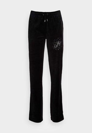 TINA SCATTER TRACK PANTS - Tracksuit bottoms - black