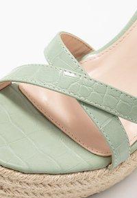 RAID - ELISHA - Sandály na vysokém podpatku - mint - 5