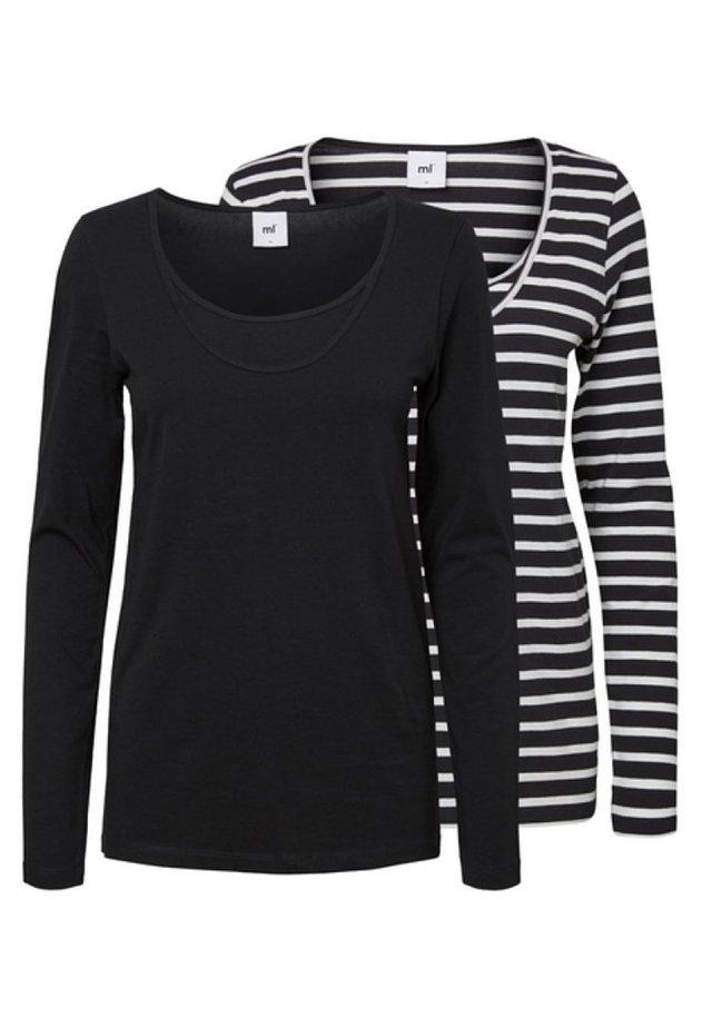 2ER-PACK - T-shirt à manches longues - black