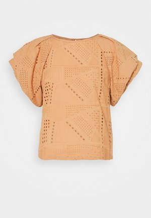 YASSADO  - T-shirt imprimé - sandstorm