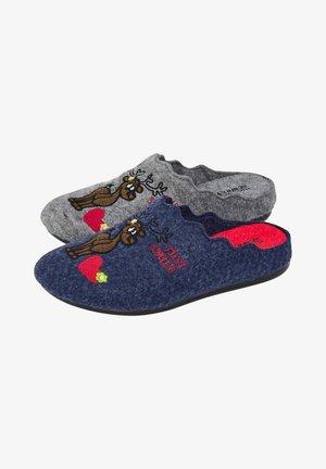 2PACK - Slippers - graublau