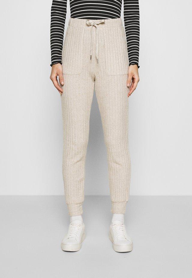 LUANA PANTS - Trousers - beige melange